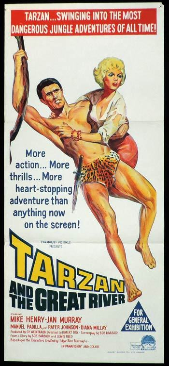 TARZAN AND THE GREAT RIVER Mike Henry VINTAGE Daybill Movie poster