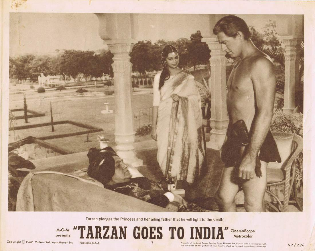 TARZAN GOES TO INDIA Lobby Card 7 Jock Mahoney Jai