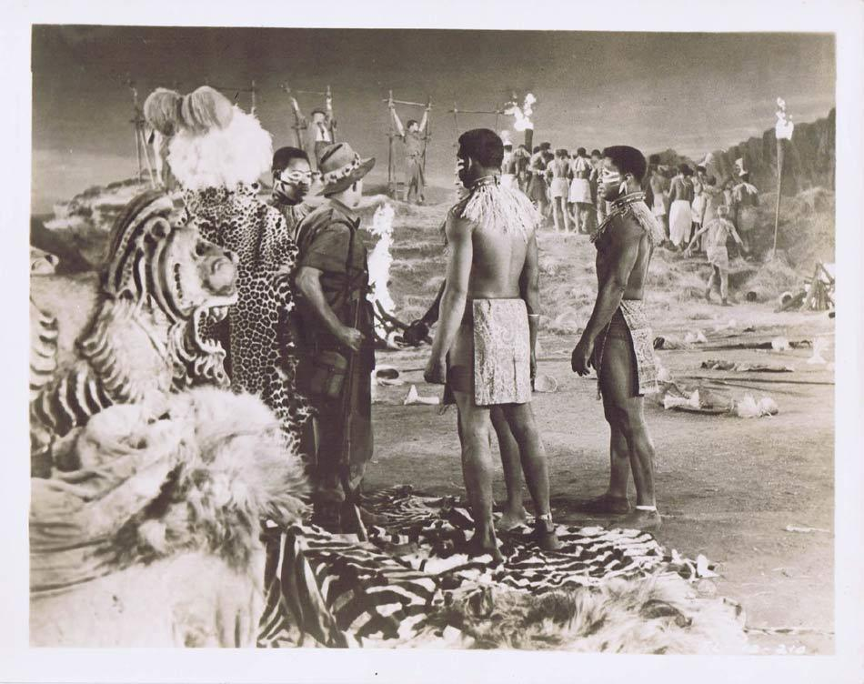 TARZAN AND THE LOST SAFARI Vintage Movie Still 24 Wilfrid Hyde White strung up