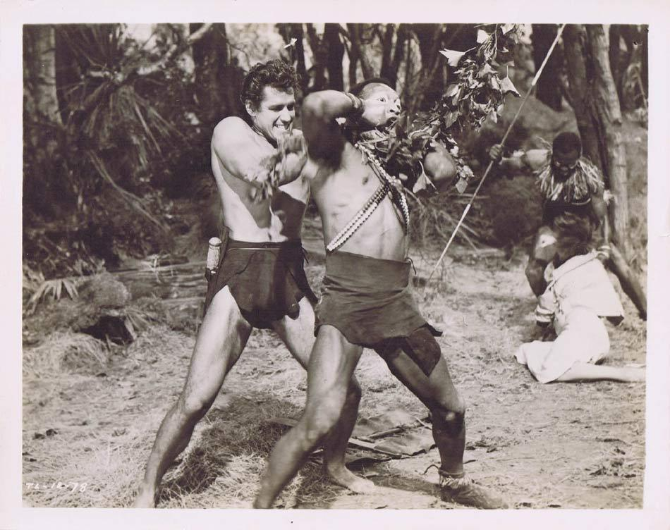 TARZAN AND THE LOST SAFARI Vintage Movie Still 31 Gordon Scott strangles tribesman