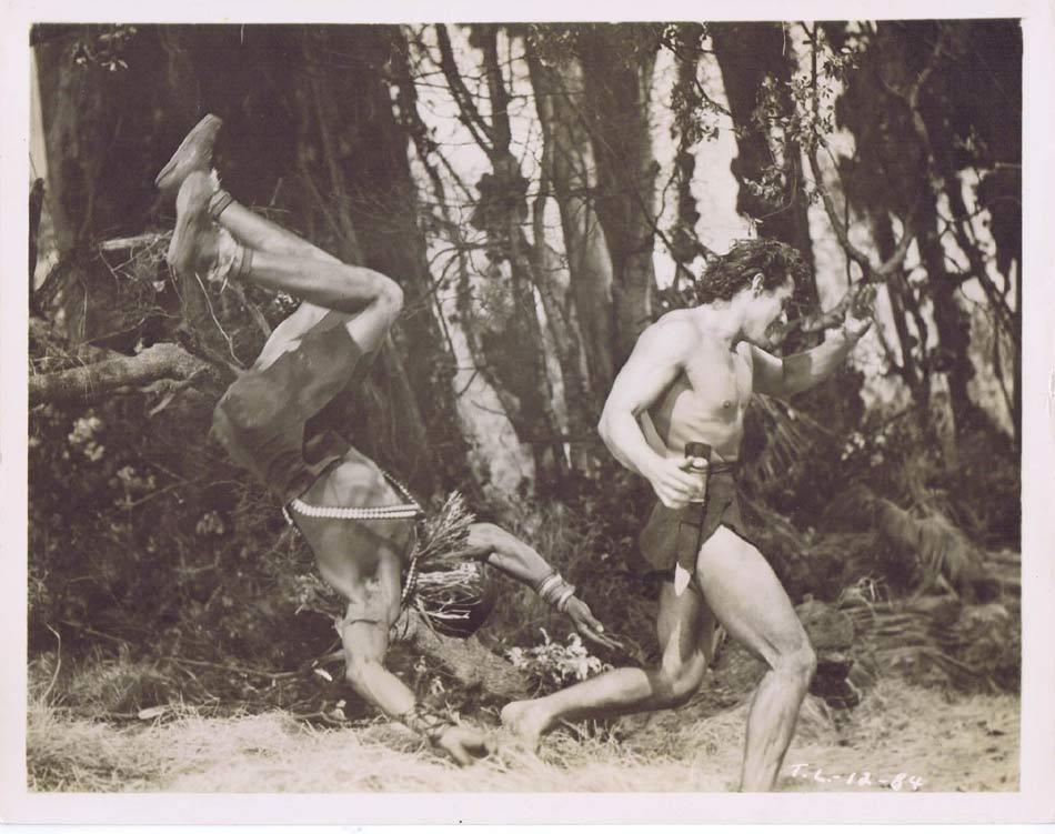 TARZAN AND THE LOST SAFARI Vintage Movie Still 36 Gordon Scott flghts Tribesman