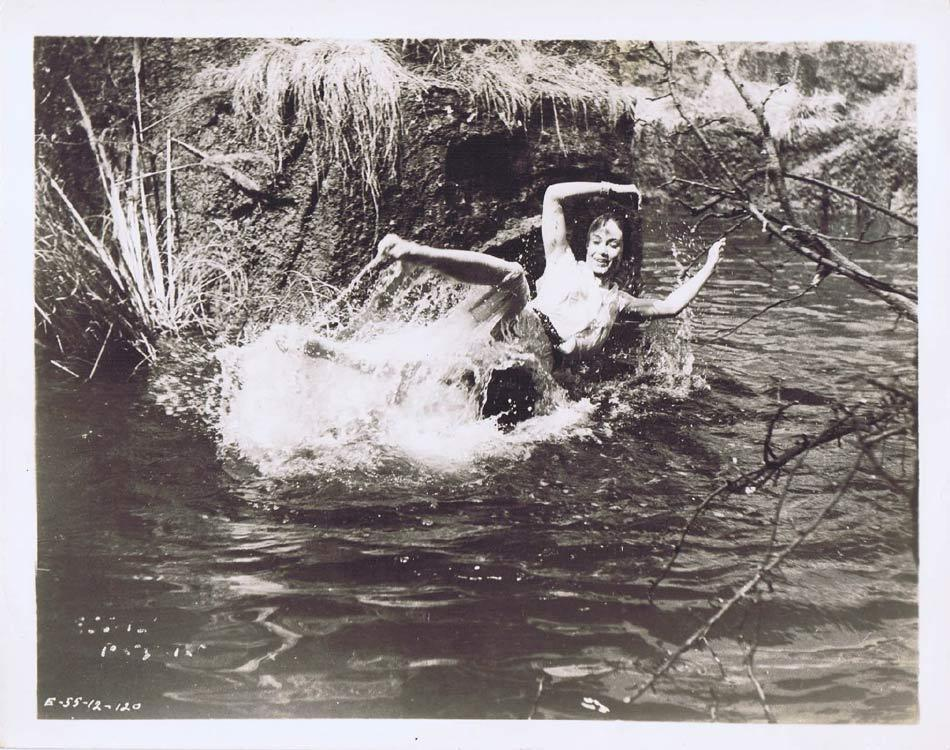 TARZAN AND THE LOST SAFARI Vintage Movie Still 61 Gordon Scott & Betta St John swim