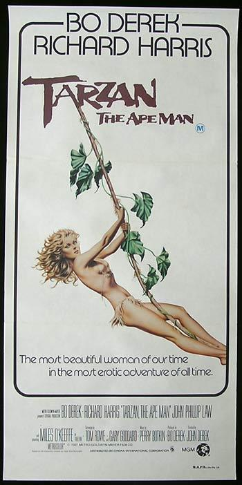 TARZAN THE APE MAN Daybill Movie Poster 1981 Bo Derek