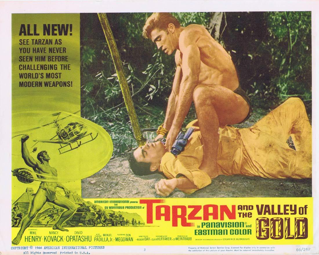 TARZAN AND THE VALLEY OF GOLD Lobby Card 3 Mike Henry David Opatoshu