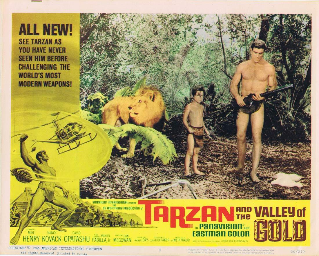 TARZAN AND THE VALLEY OF GOLD Lobby Card 5 Mike Henry David Opatoshu