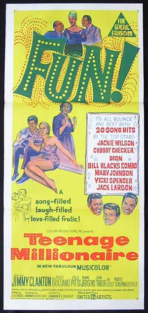 TEENAGE MILLIONAIRE Movie poster 1964 Zasu Pitts daybill