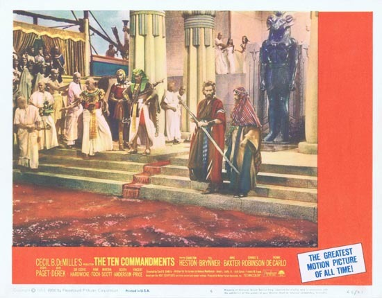 THE TEN COMMANDMENTS Lobby Card 5 1966r Charlton Heston
