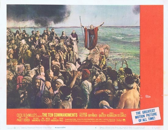 THE TEN COMMANDMENTS Lobby Card 6 1966r Charlton Heston