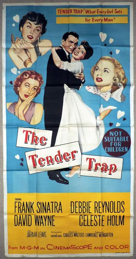 THE TENDER TRAP Original 3 Sheet Movie Poster Frank Sinatra