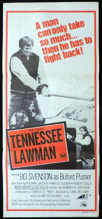 TENNESSEE LAWMAN Original Daybill Movie Poster Bo Svenson as Buford Pusser