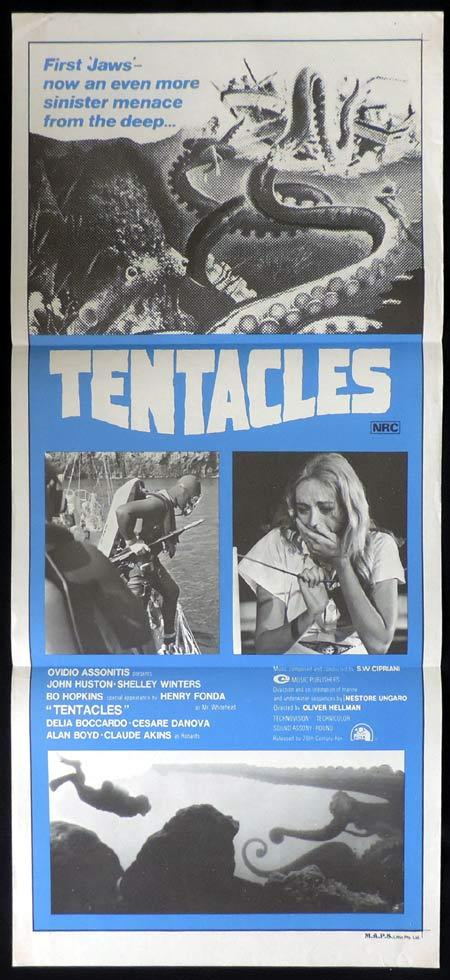 TENTACLES Original Daybill Movie Poster Sci Fi William Shatner Leonard Nimoy