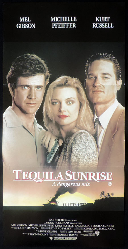 TEQUILA SUNRISE Mel Gibson Daybill Movie poster