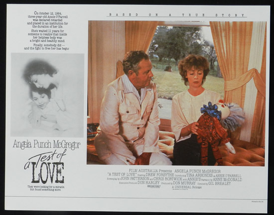 ANNIE'S COMING OUT aka TEST OF LOVE Lobby Card 5 1984 Punch McGregor
