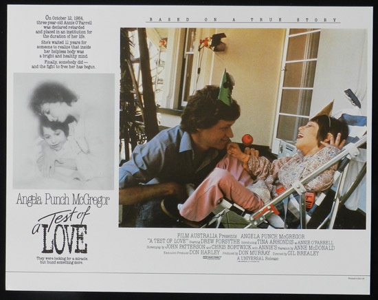 ANNIE'S COMING OUT aka TEST OF LOVE Lobby Card 7 1984 Punch McGregor