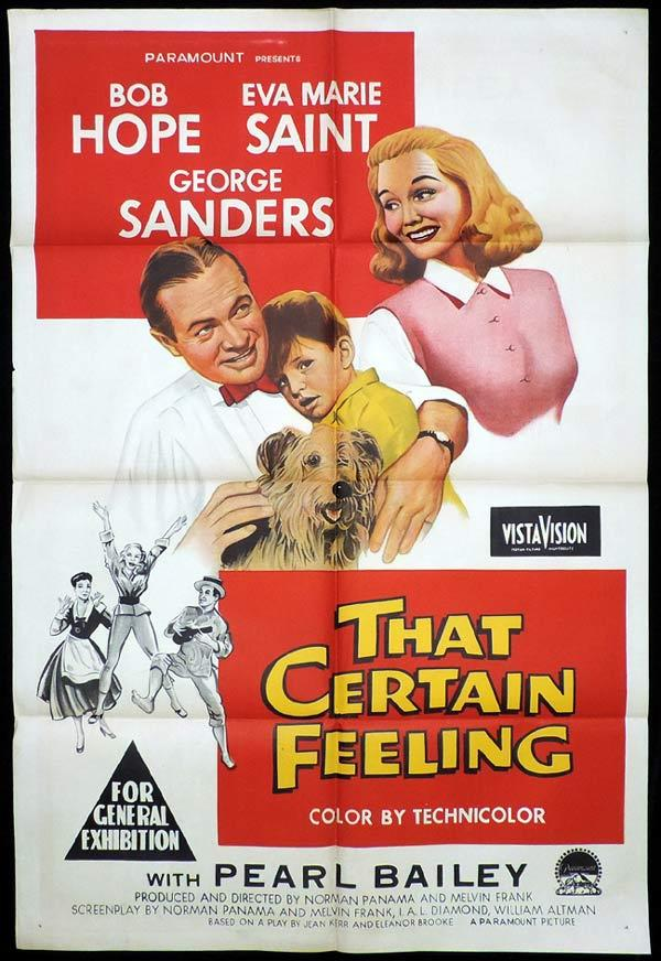 THAT CERTAIN FEELING One Sheet Movie Poster Bob Hope Eva Marie Saint