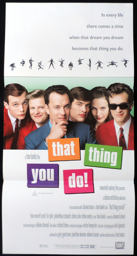 THAT THING YOU DO Tom Hanks ORIGINAL Daybill Movie poster Liv Tyler