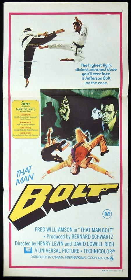 THAT MAN BOLT Original Daybill Movie Poster Fred Williamson