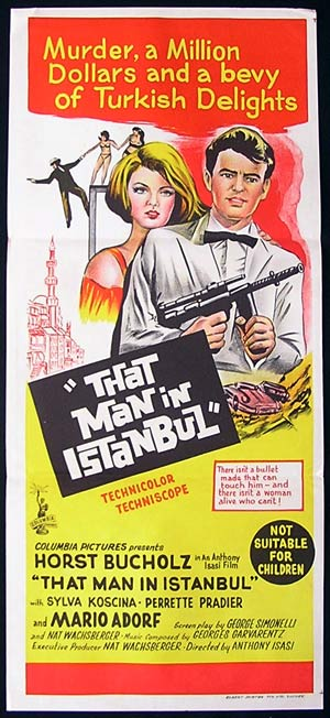 THAT MAN IN ISTANBUL Daybill Movie poster 1965 Horst Buchholz