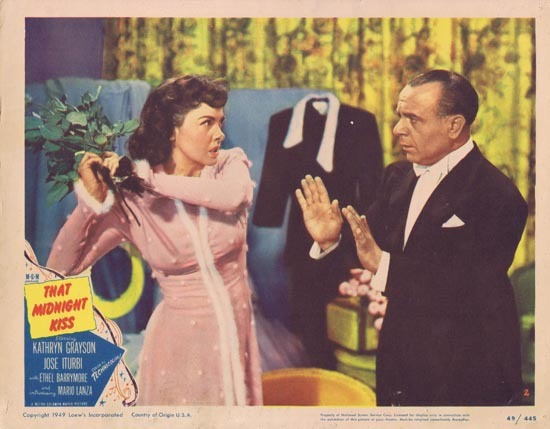 THAT MIDNIGHT KISS 1949 Kathryn Grayson Lobby card 2