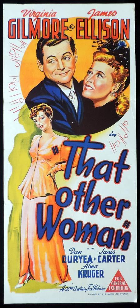 THAT OTHER WOMAN Original Daybill Movie Poster Virginia Gilmore