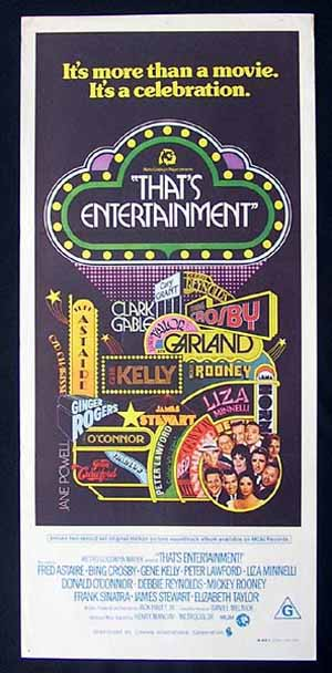 THAT'S ENTERTAINMENT Cary Grant Gene Kelly Bing Crosby Australian Daybill Movie poster