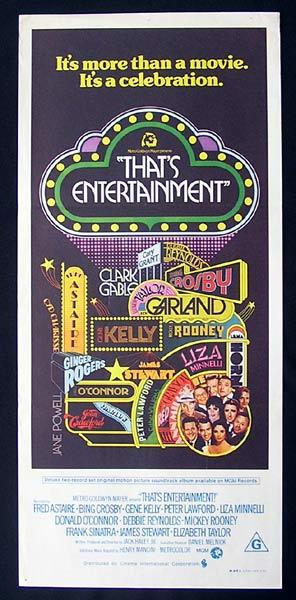 THAT'S ENTERTAINMENT 1974 Astaire Crosby Kelly Daybill Movie Poster