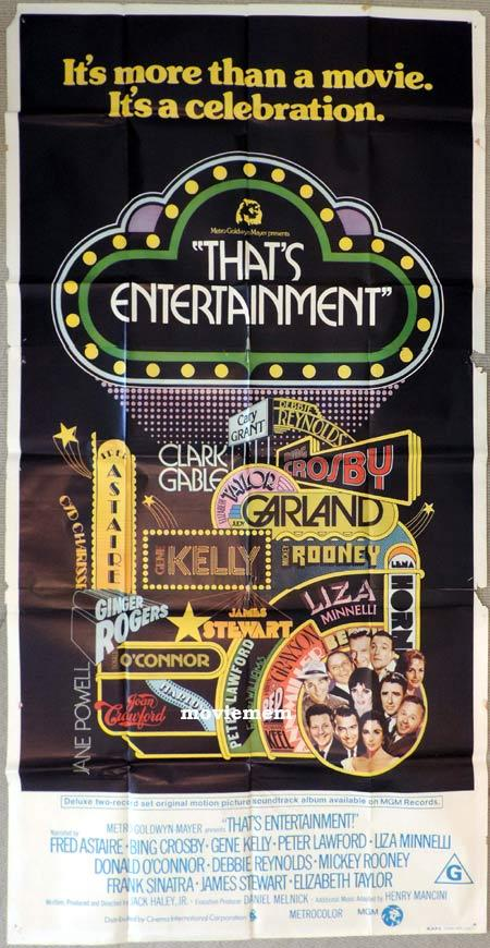 THAT'S ENTERTAINMENT Original 3 Sheet Movie Poster Fred Astaire