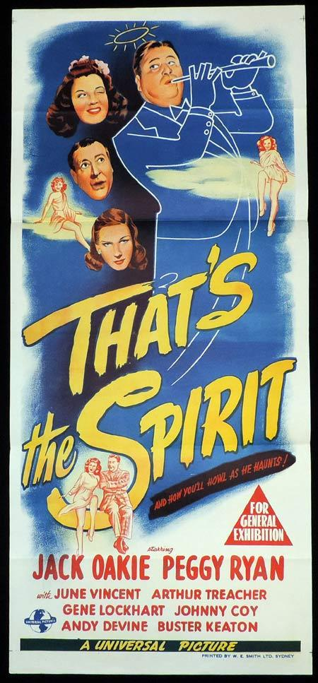 THATS THE SPIRIT Original Daybill Movie Poster Jack Oakie Peggy Ryan