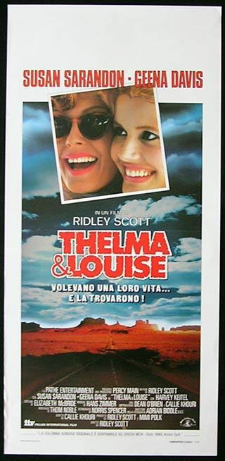 THELMA AND LOUISE Italian Locandina Movie Poster Ridley Scott Susan Sarandon