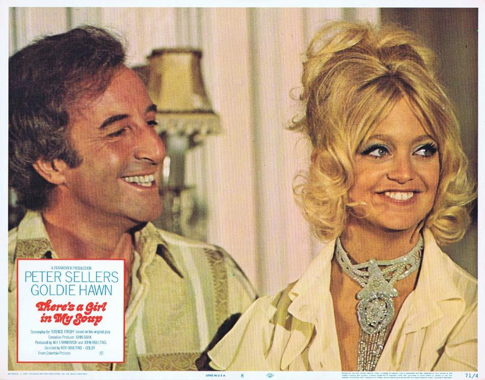 THERES A GIRL IN MY SOUP Lobby Card 8 Peter Sellers Goldie Hawn