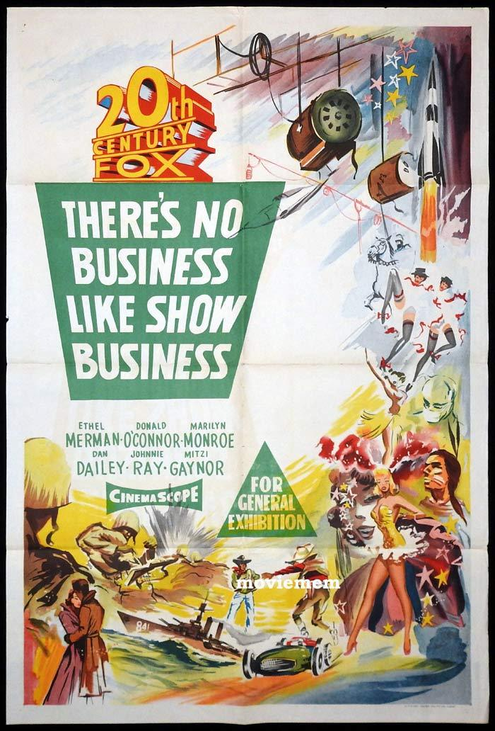 THERE'S NO BUSINESS LIKE SHOW BUSINESS Original One sheet Movie Poster Marilyn Monroe