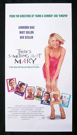 THERES SOMETHING ABOUT MARY 1998 Cameron Diaz ORIGINAL Movie poster