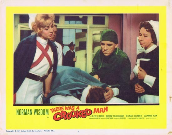 THERE WAS A CROOKED MAN Lobby Card 7 1961 Norman Wisdom
