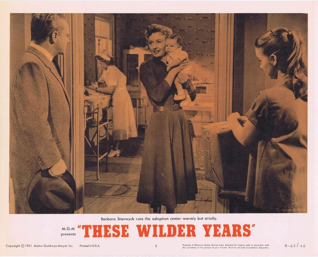 THESE WILDER YEARS Lobby Card 1 James Cagney Barbara Stanwyck Walter Pidgeon 1967r