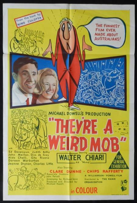 THEYRE A WEIRD MOB Movie Poster 1966 Walter Chiari RARE Australian One sheet