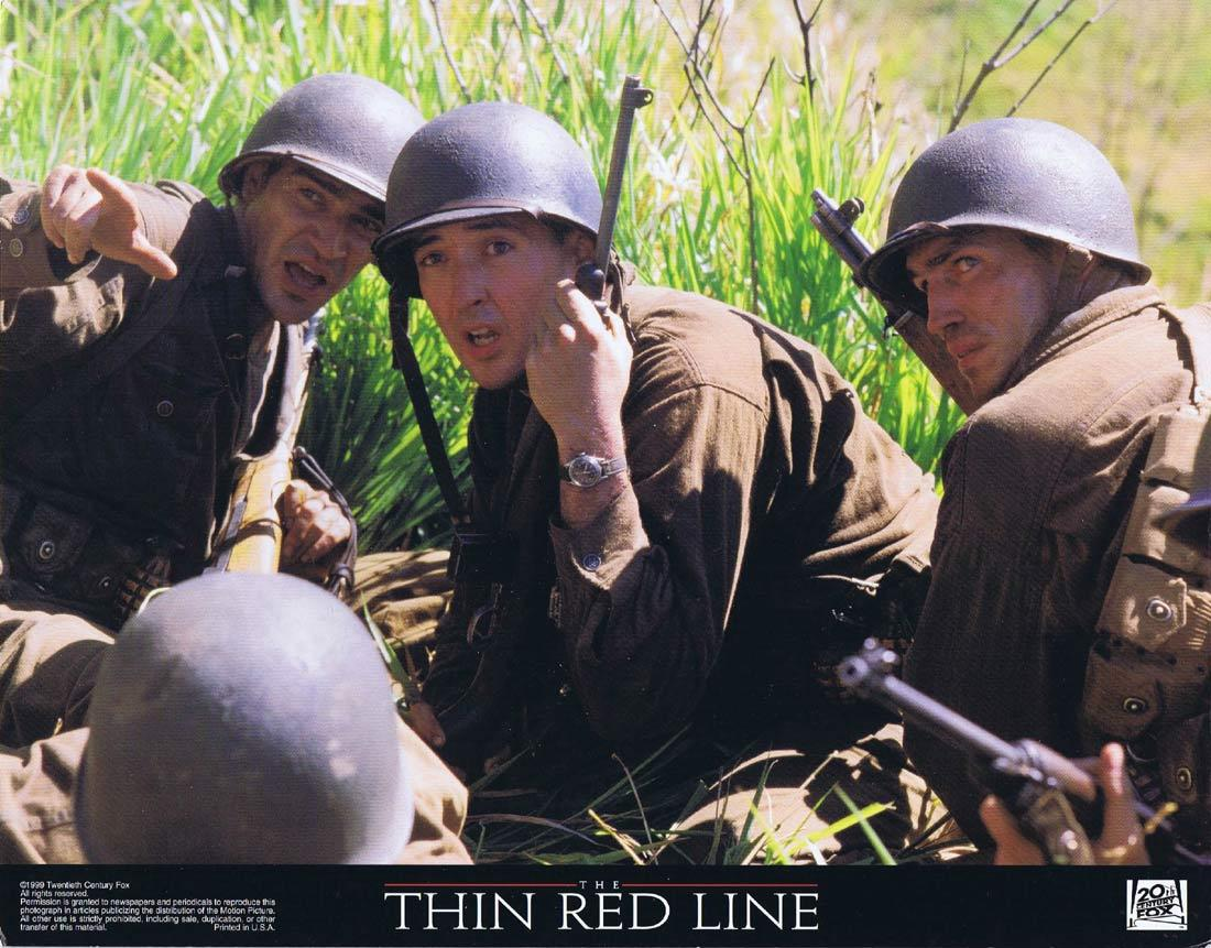 THE THIN RED LINE Original Lobby Card Sean Penn John Travolta John Cusack