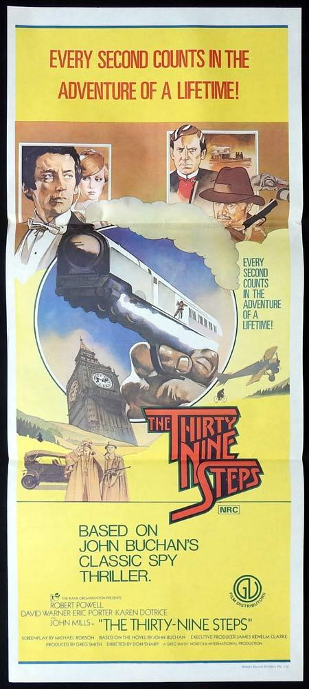 THE THIRTY NINE STEPS Original Daybill Movie Poster Robert Powell David Warner Karen Dotrice