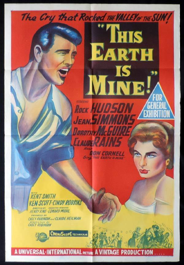 THIS EARTH IS MINE One Sheet Movie Poster Rock Hudson