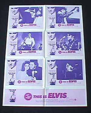 THIS IS ELVIS 1981 Elvis Presley ORIGINAL Photo sheet Movie Poster