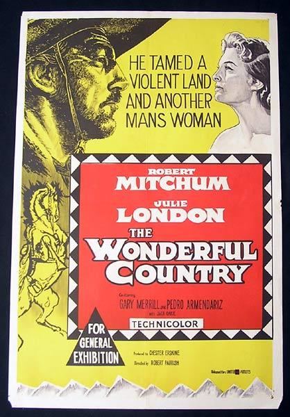 THIS WONDERFUL COUNTRY One Sheet Movie Poster Robert Mitchum