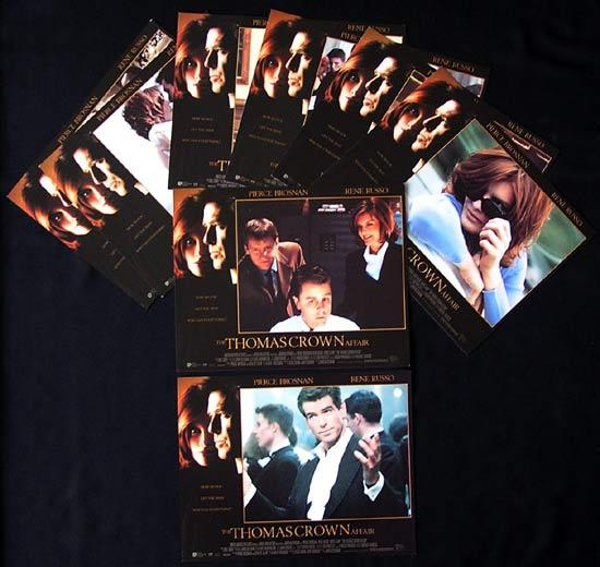 THOMAS CROWN AFFAIR Lobby Card Set 1999 Pierce Brosnan Rene Russo