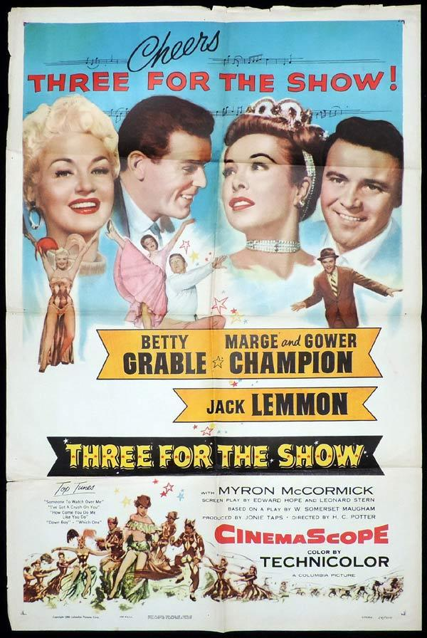 THREE FOR THE SHOW One Sheet Movie Poster Betty Grable