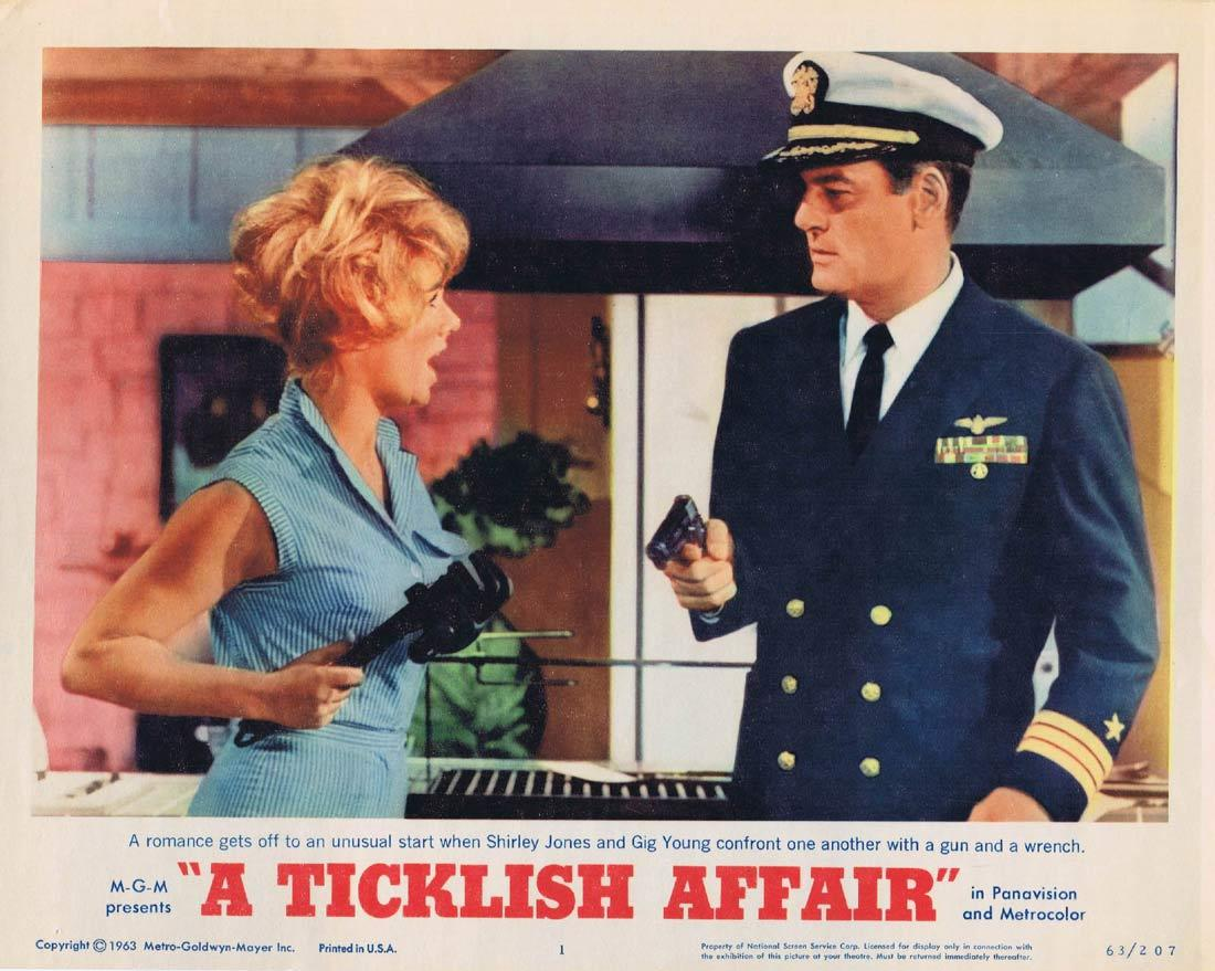 A TICKLISH AFFAIR Original Lobby Card Gig Young Shirley Jones