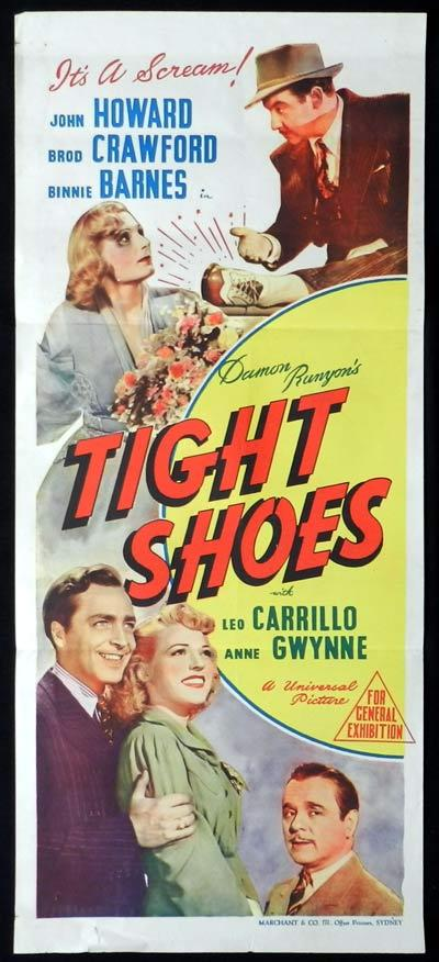 TIGHT SHOES Daybill Movie Poster Broderick Crawford Binnie Barnes