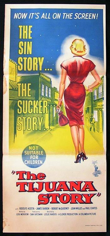 THE TIJUANA STORY 1957 Film Noir daybill Movie Poster