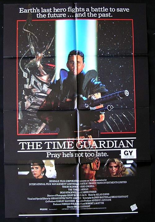 TIME GUARDIAN 1987 Tom Burlinson RARE Movie poster