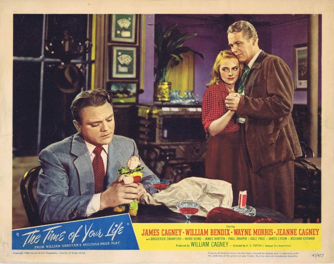 THE TIME OF YOUR LIFE Lobby Card 3 James Cagney William Bendix Wayne Morris