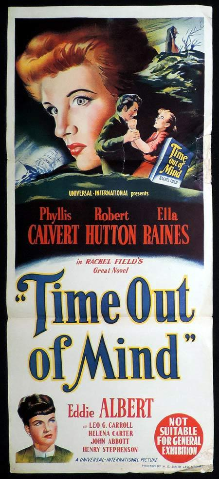 TIME OUT OF MIND Original Daybill Movie Poster Phyllis Calvert