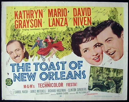 TOAST OF NEW ORLEANS '50-Lanza US HALF SHEET poster