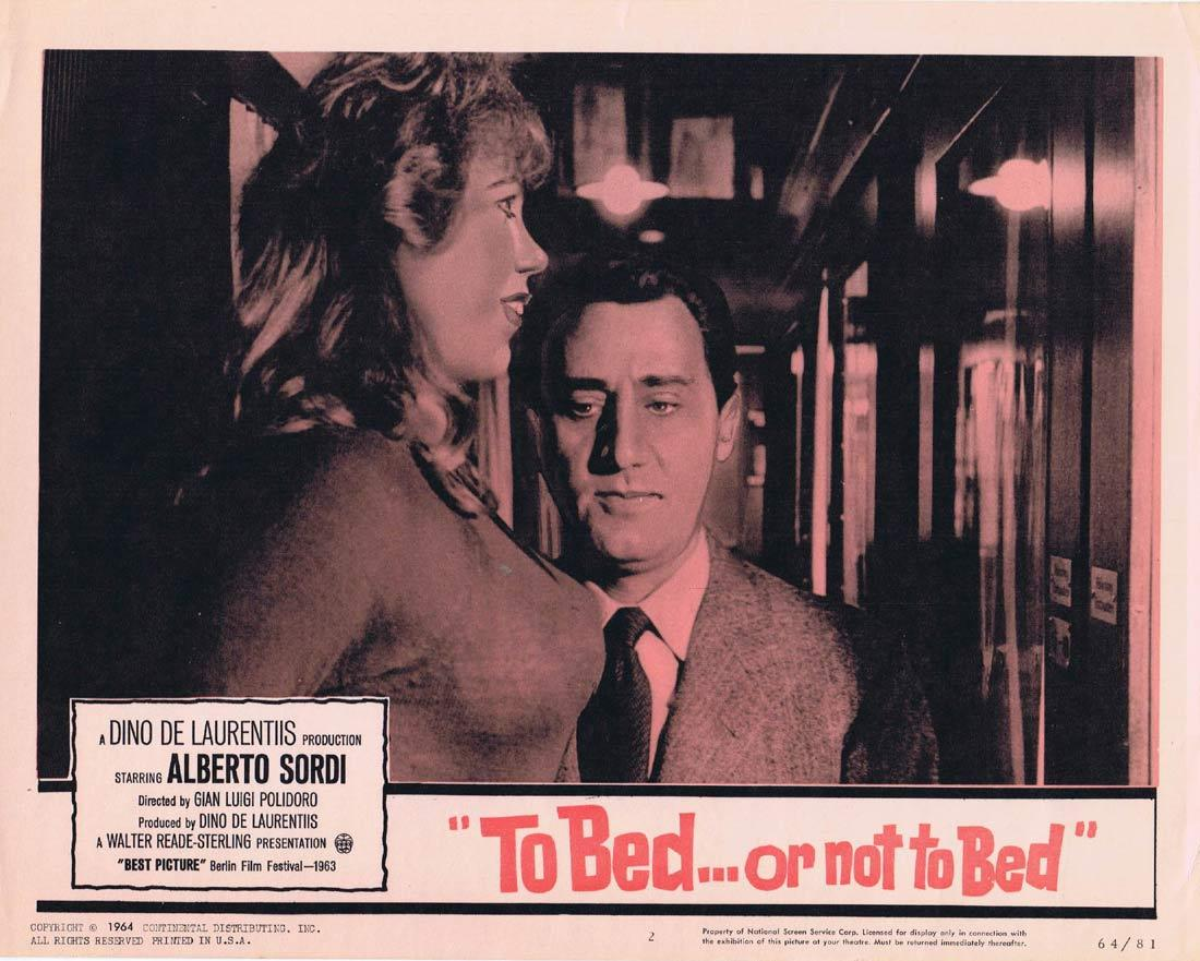 TO BED OR NOT TO BED Original Lobby Card Alberto Sordi